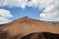 埃特纳火山Silvestri火山口  库存照片