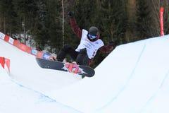 埃琳娜Koenz - slopestyle 库存照片