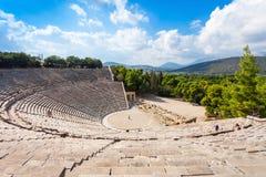 埃皮达鲁斯古老剧院,希腊 免版税库存照片