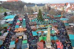 埃福特圣诞节市场-德国 免版税库存照片