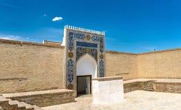 埃米尔古老住所平底船堡垒的在布哈拉,乌兹别克斯坦 库存照片