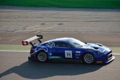 埃米尔弗雷捷豹汽车XKR-S GT3在蒙扎 库存图片