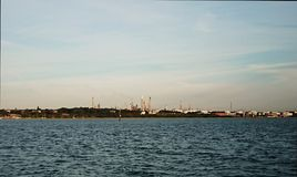 埃索石油石油炼厂 免版税库存照片