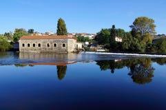 维埃纳河在利姆辛 免版税库存照片