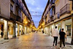 埃纳雷斯堡,马德里,西班牙2016年12月5日:市长st 免版税图库摄影