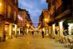 埃纳雷斯堡,马德里,西班牙2016年12月5日:市长st 免版税库存图片