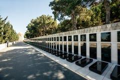 埃罗斯坟茔在巴库,阿塞拜疆 免版税库存照片
