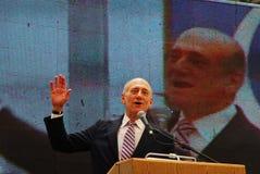 埃胡德・奥尔默特-以色列的第12位总理 免版税库存图片