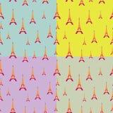 埃菲尔塔样式与颜色背景 免版税库存照片