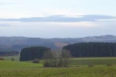 埃菲尔山(德国) -在晚上环境美化 免版税库存照片