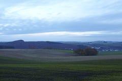埃菲尔山(德国) -在晚上环境美化 免版税库存图片