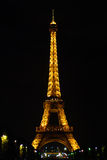 埃菲尔晚上塔 免版税库存照片