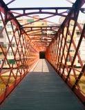埃菲尔桥梁在赫罗纳 卡塔龙尼亚,西班牙 库存照片