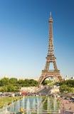 埃菲尔被看见的塔trocadero 免版税库存照片