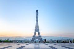 埃菲尔铁塔在巴黎,法国 库存照片