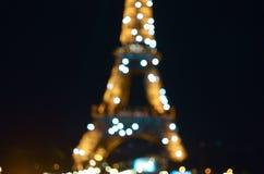 埃菲尔铁塔闪光的光 免版税库存图片