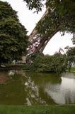 埃菲尔parc巴黎塔 免版税库存照片
