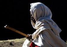 埃赛俄比亚的人画象  免版税库存图片