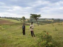 埃赛俄比亚的农厂孩子 免版税库存图片