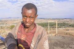 埃赛俄比亚的十几岁的男孩 免版税库存图片