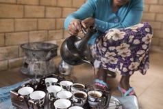 埃赛俄比亚的咖啡仪式 库存图片