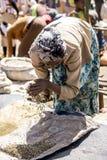 埃赛俄比亚的咖啡客商 图库摄影