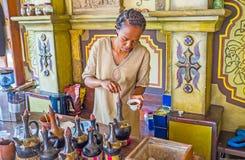 埃赛俄比亚的咖啡仪式的传统 库存图片