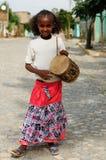 年轻埃赛俄比亚的女孩的画象 图库摄影