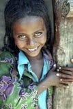 埃赛俄比亚的女孩画象有光芒四射的面孔的 库存图片
