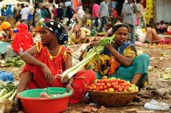 从埃赛俄比亚的市场的种族妇女 免版税库存照片