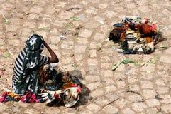 从埃赛俄比亚的市场的种族妇女 图库摄影