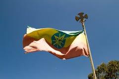 埃赛俄比亚的旗子飞行 库存图片