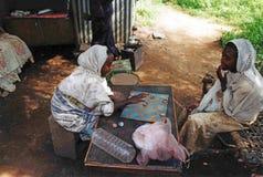 埃赛俄比亚的棋 免版税库存照片