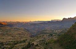 埃赛俄比亚的横向在黎明 库存图片