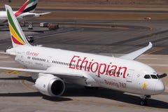 埃赛俄比亚的波音787 Dreamliner 免版税库存照片