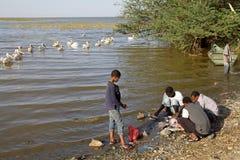埃赛俄比亚的渔夫 免版税库存图片