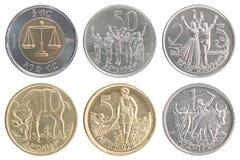 埃赛俄比亚的硬币集合 免版税库存照片