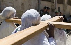 埃赛俄比亚的耶稣受难节 免版税库存照片
