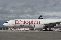 埃赛俄比亚的货物航空器 库存照片