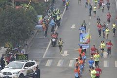 埃赛俄比亚的运动员获得冠军 库存图片