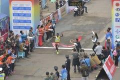 埃赛俄比亚的运动员获得冠军 免版税库存照片