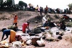 埃赛俄比亚的洗衣店 免版税库存图片