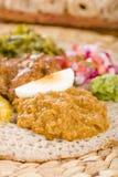 埃赛俄比亚的宴餐- Injera 库存照片