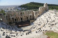 160 174埃迪克BC建立了herodes odeon 图库摄影