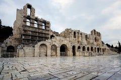 160 174埃迪克BC建立了herodes odeon 雅典,希腊 库存图片