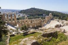 160 174埃迪克BC建立了herodes odeon 库存图片
