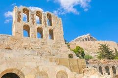 160 174埃迪克BC建立了herodes odeon 库存照片