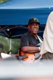 埃里克・约翰逊,有卢霍的唐纳森吉他演奏员查利・帕克爵士节的在曼哈顿, 2017年 库存图片