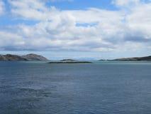埃里斯凯岛-南尤伊斯特岛堤道 库存图片