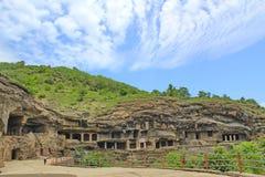 埃洛拉石窟,印度 免版税库存图片